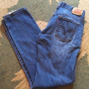 Levi's 505 Nouveau Straight Stretch Jeans 6TALL